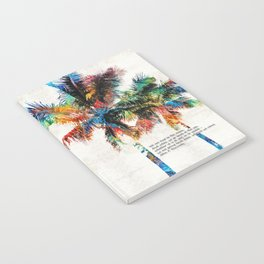 Colorful Palm Trees - Returning Home - By Sharon Cummings Notebook