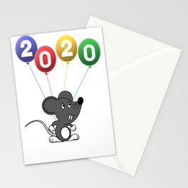 2020 The Year of Rat Stationery Cards