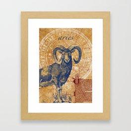 aries | widder Framed Art Print