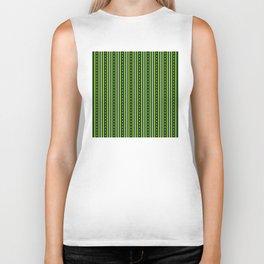 Stripes Pattern #204 (green) Biker Tank