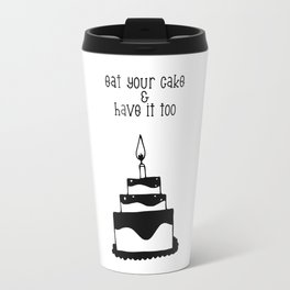 Monochrome birthday cake Travel Mug