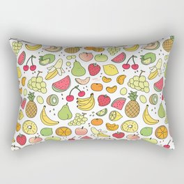 Juicy Fruits Doodle Rectangular Pillow