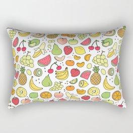 Juicy Fruits Doodle Rectangular Pillow