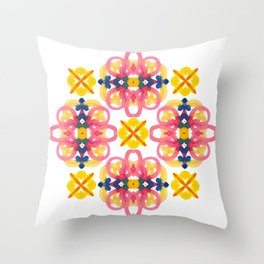 geometric watercolor pattern Throw Pillow