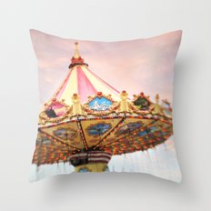 dusk at the fair Throw Pillow