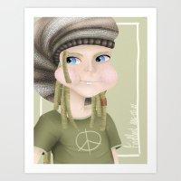 Hippie Dude Art Print