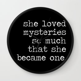 She Loved Mysteries (Inverted) Wall Clock
