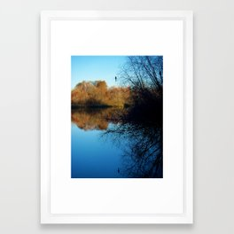 Reflection at Sunset Framed Art Print