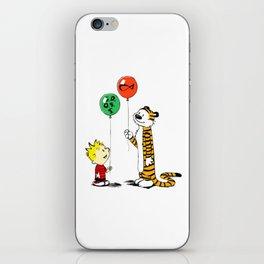 calvin and hobbes ballon iPhone Skin