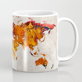 World Map 58 Coffee Mug