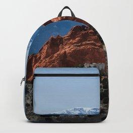 Garden of the Gods, Colorado Travel Illustration Backpack