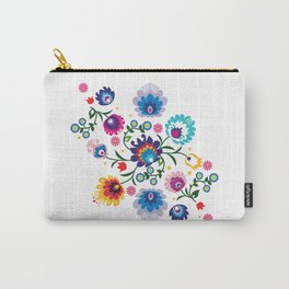 Beautiful Folk Composition on white Carry-All Pouch