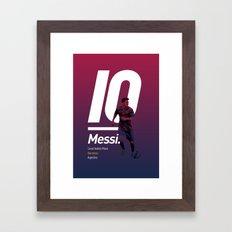 Messi Barcelona Framed Art Print