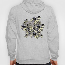 illustration with several geometric shapes in pastel colours Hoody