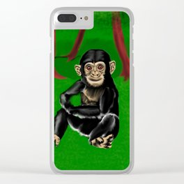 chimp baby Clear iPhone Case