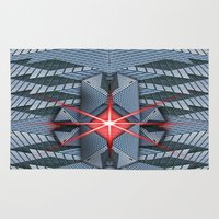 the office Area & Throw Rugs featuring Star office by Cozmic Photos