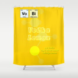 Vodca Lemon Shower Curtain
