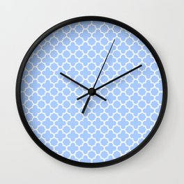 Pale Blue Moroccan Style Design Wall Clock