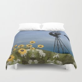 Wind Pump American Style Windmill Duvet Cover