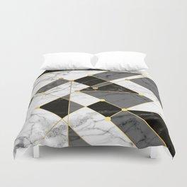 Black and white marble Duvet Cover