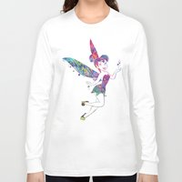tinker bell Long Sleeve T-shirts featuring Tinker Bell by Bitter Moon