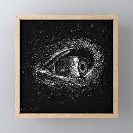 Wide awake, insomnia's eye in ink Framed Mini Art Print