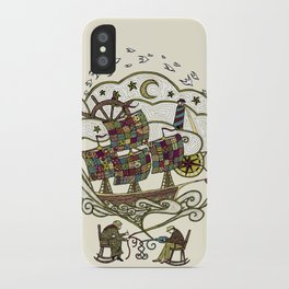 My Father was a Sailor, and My Mother, a Quilter iPhone Case