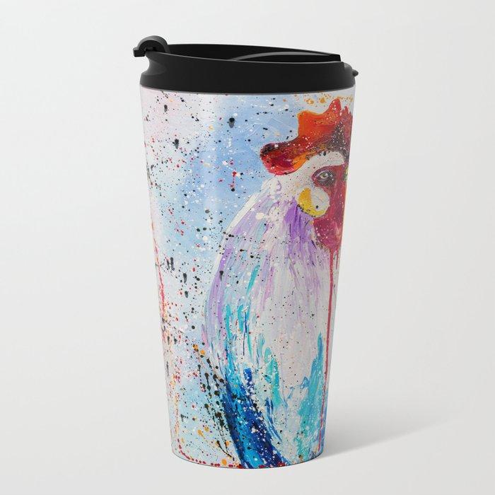 The rooster Metal Travel Mug