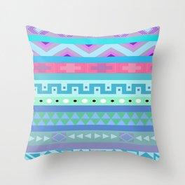 Calm Colored Tribal Print Throw Pillow