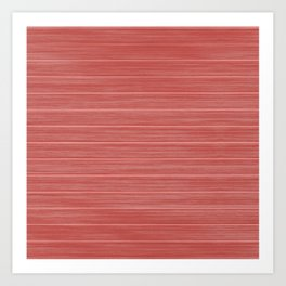 Pastel Red Whitewashed Beach House Cladding Art Print