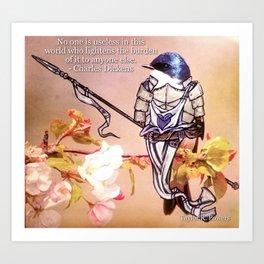 Birds In Armor Art Print