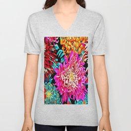 Chrysanthemums Unisex V-Neck