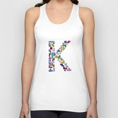 letter k - gaming blocks Unisex Tank Top