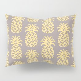 Mid Century Modern Pineapple Pattern Gray and Yellow Pillow Sham