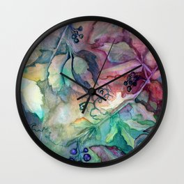 Virginia Creeper by Maureen Donovan Wall Clock