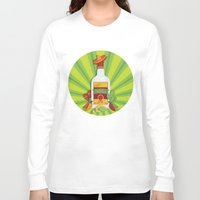 tequila Long Sleeve T-shirts featuring Tequila Time by Matt Andrews