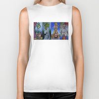 muppet Biker Tanks featuring Muppet Stretching Room Portraits by Lissyleem
