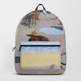 Frederic Remington - Fight for the Waterhole - Digital Remastered Edition Backpack