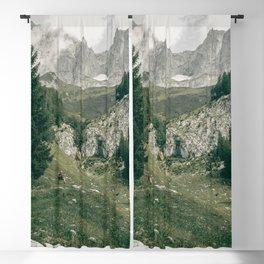Peaceful Mountains   Landscape Photography Alps   Print Art Blackout Curtain