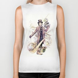 Willy Wonka and his chocolate factory Biker Tank