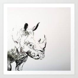 Mona Rhino Art Print