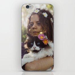 Flower Cat iPhone Skin