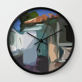 ST. Maarten Color Block House  Wall Clock