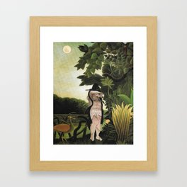 344/365 Ten Minute Collage Framed Art Print