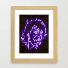 Jagger neon art Framed Art Print