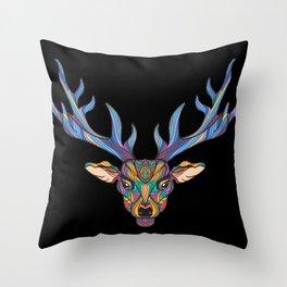 Deer Park- MI on Black Throw Pillow