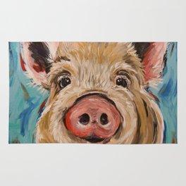 Pig Painting, Colorful Pig Rug