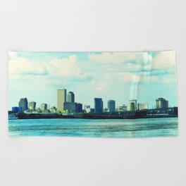 New Orleans Skyline Beach Towel