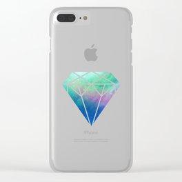 Diamond galaxy Clear iPhone Case