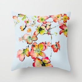 shiney petals Throw Pillow